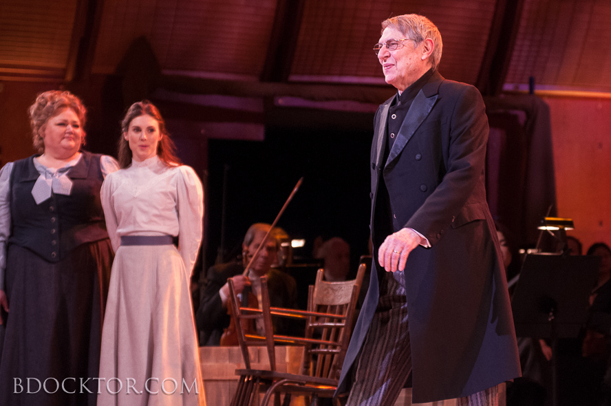 John Cullum at curtain call. Stephanie Blythe and Tiler Peck at left.