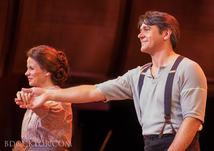 Kelli O'Hara and Nathan Gunn at curtain call