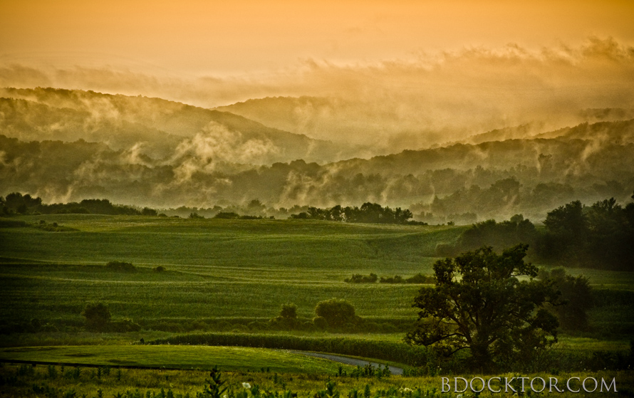 Ancram landscape: After a storm, from Roche Drive