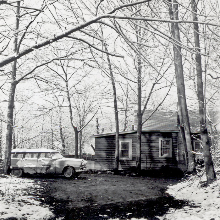 house and car 1957
