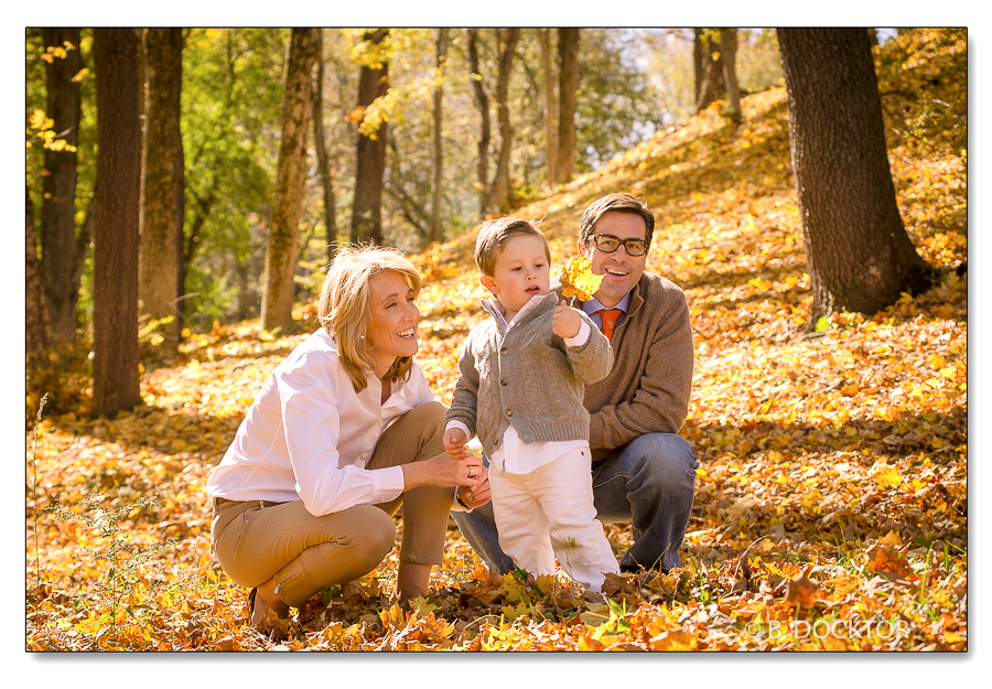 Family portrait in Fall color